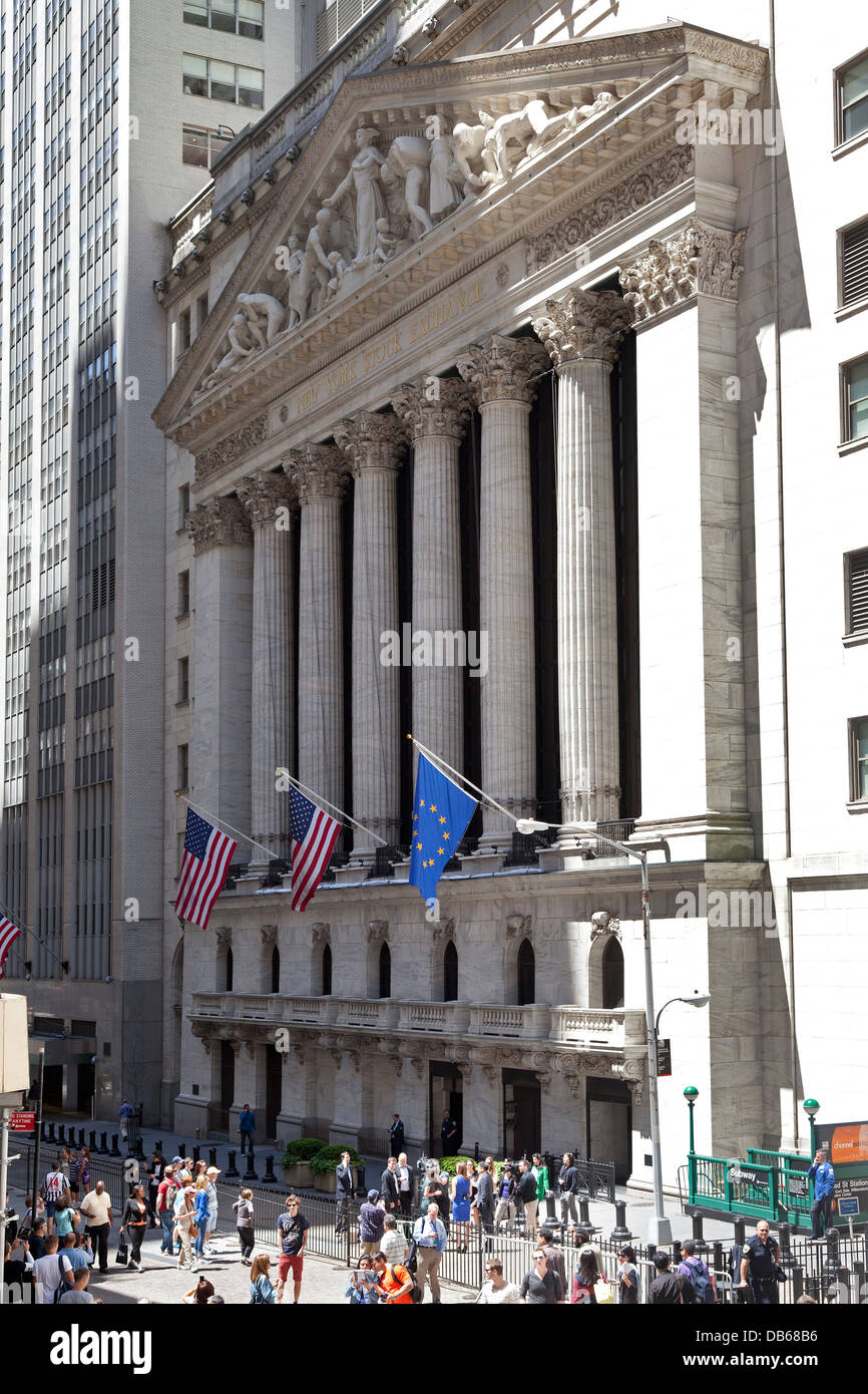 The New York Stock Exchange in Wall Street, NYC - Stock Image