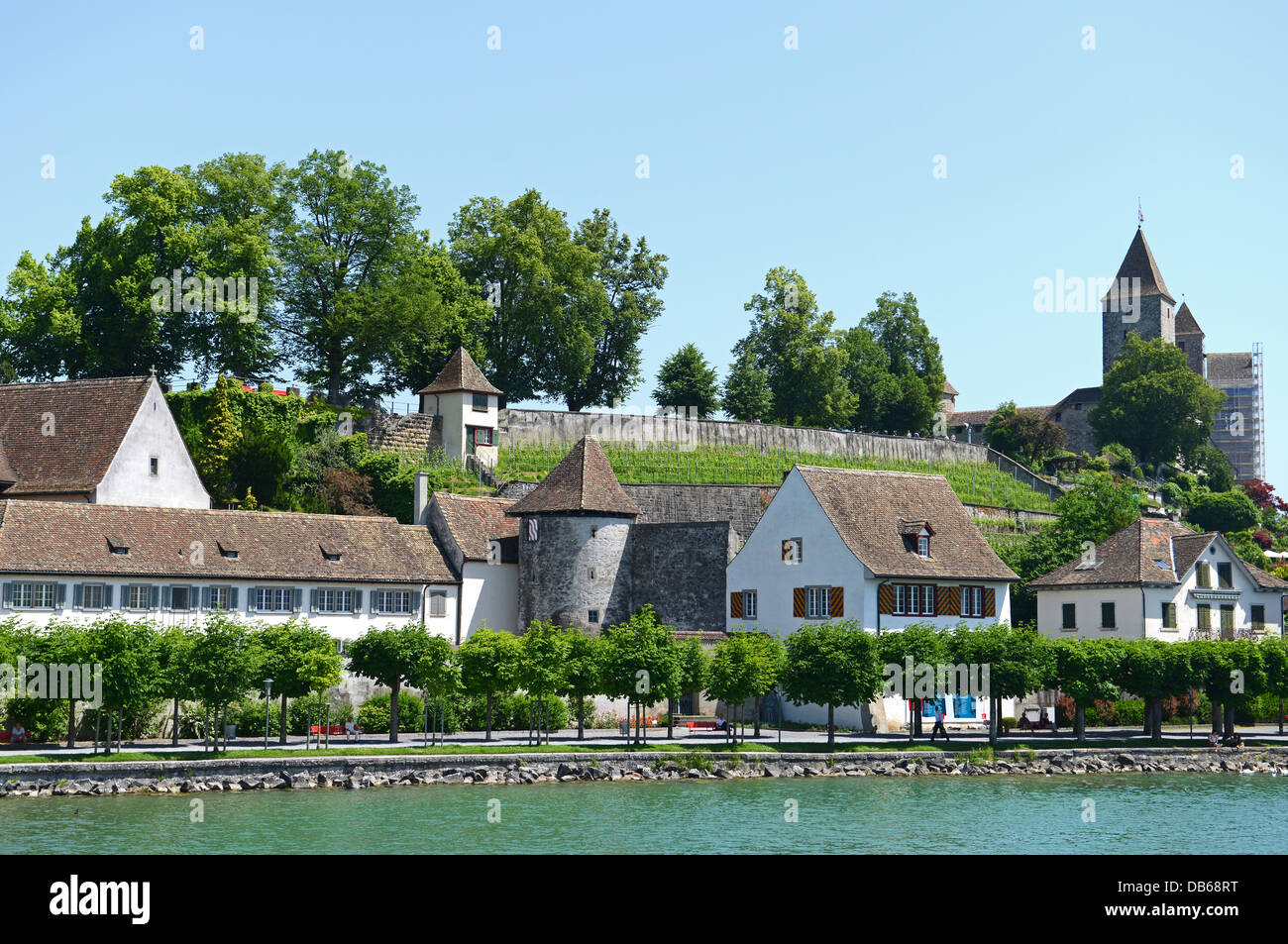 Rapperswil is situated at the Zurichsee in Switzerland - Stock Image