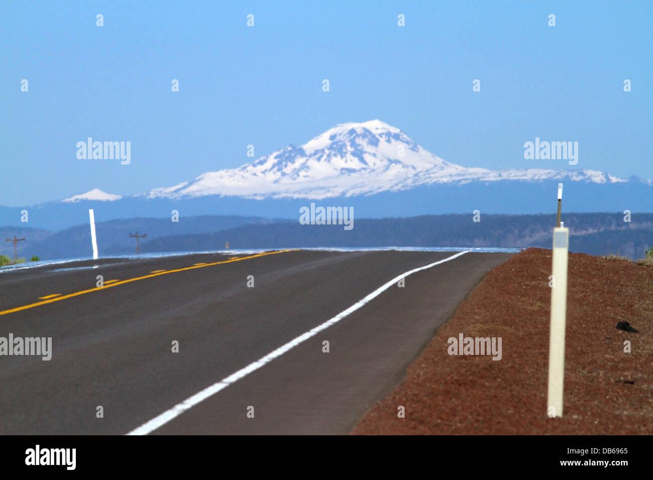 U.S. Route 20 east of Bend, Oregon, USA. - Stock Image