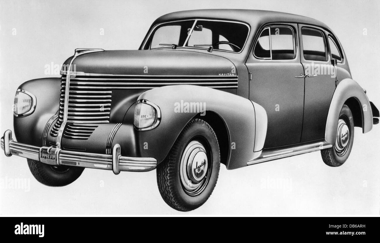 transport / transportation, cars, vehicle variants, Opel Kapitaen, 1939, Additional-Rights-Clearences-NA - Stock Image