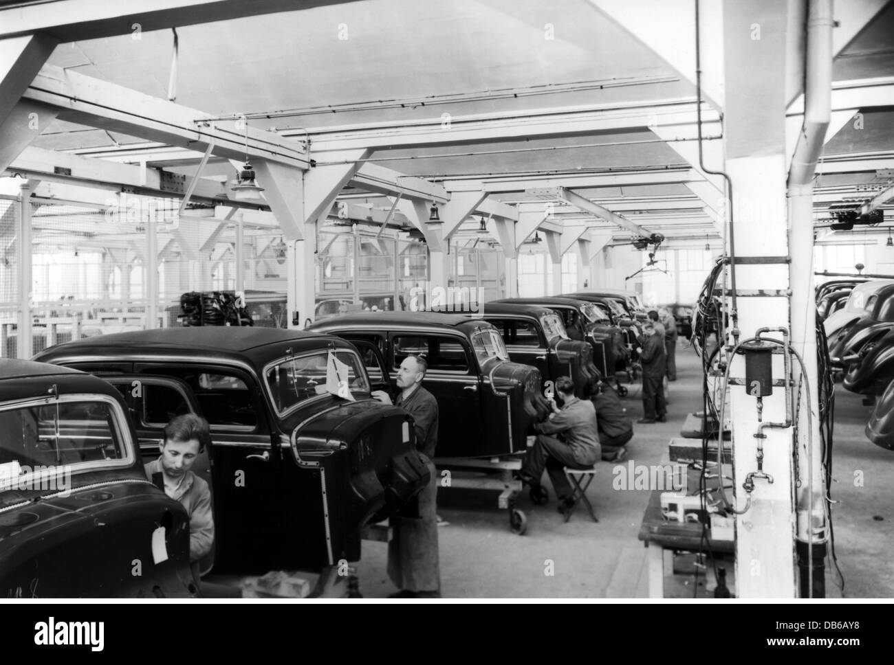 industry, cars, mercedes-benz, assembly in the sindelfingen plant
