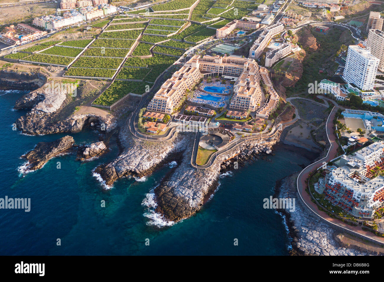 Hotel Facilities in South of Tenerife, Tenerife, Canary Islands, Spain - Stock Image