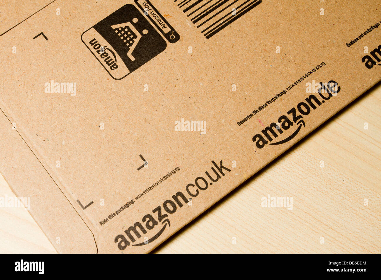 Amazon delivery, card envelope, England, UK - Stock Image