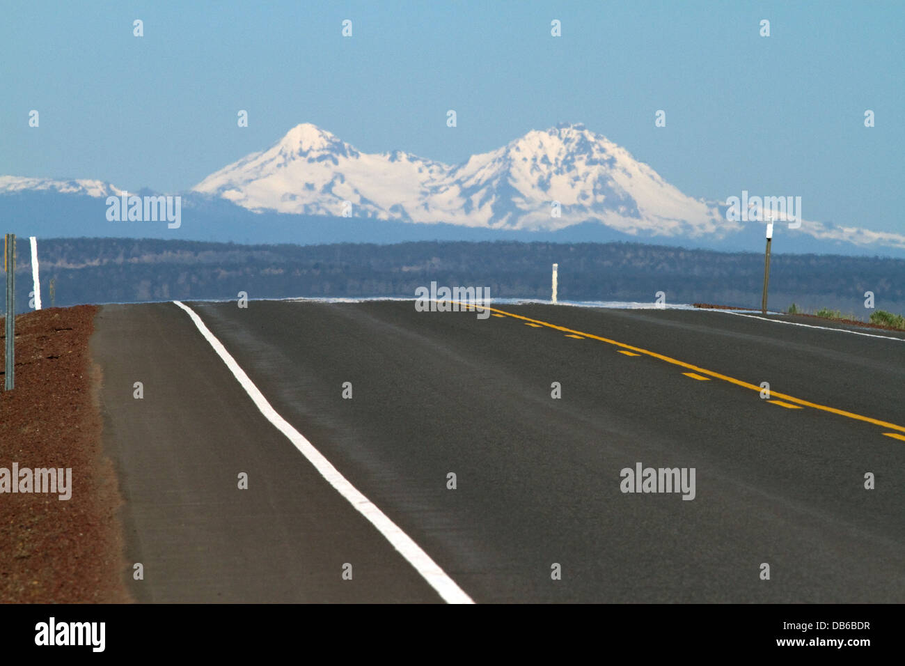 U.S. Route 20 east of Bend, Oregon, USA. - Stock Image
