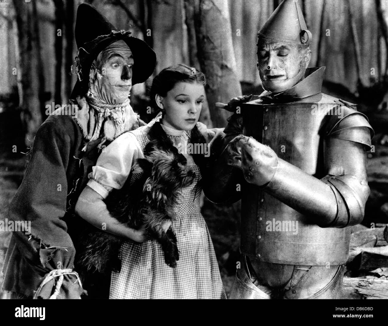 Bert Lahr, Jack Haley, Ray Bolger and Judy Garland The