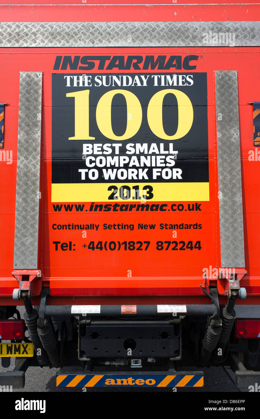 sunday times 100 best small companies to work for poster on the back