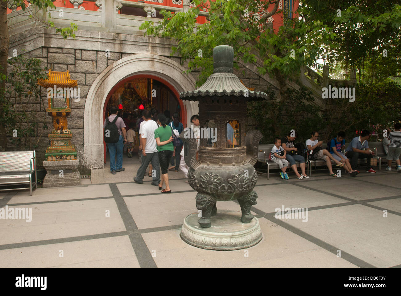 Po Lin Monastery, Lantau Island Hong Kong China. Stock Photo