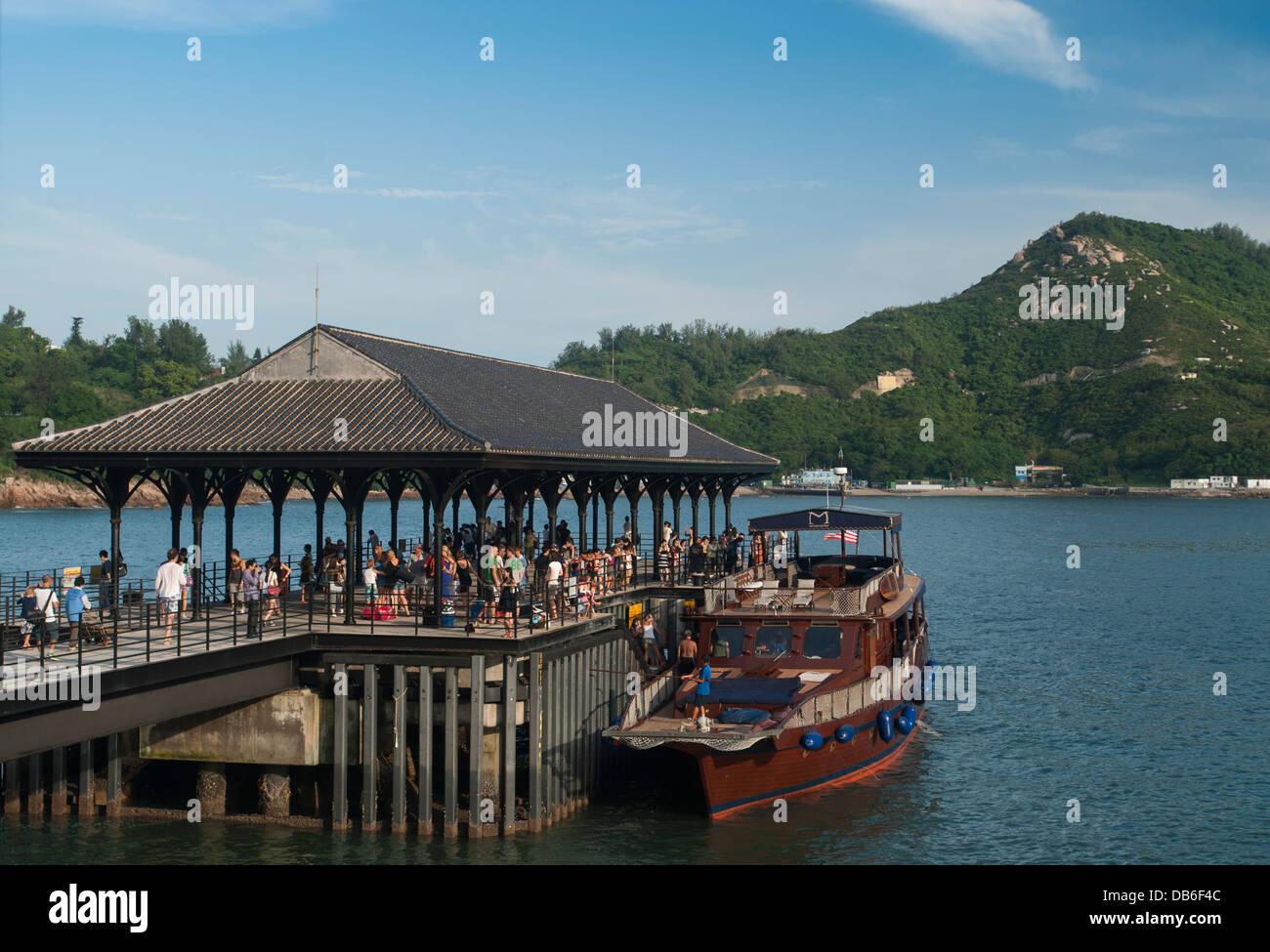 Blake Pier Tsui Wah Ferry dock at Stanley, Hong Kong China Stock Photo