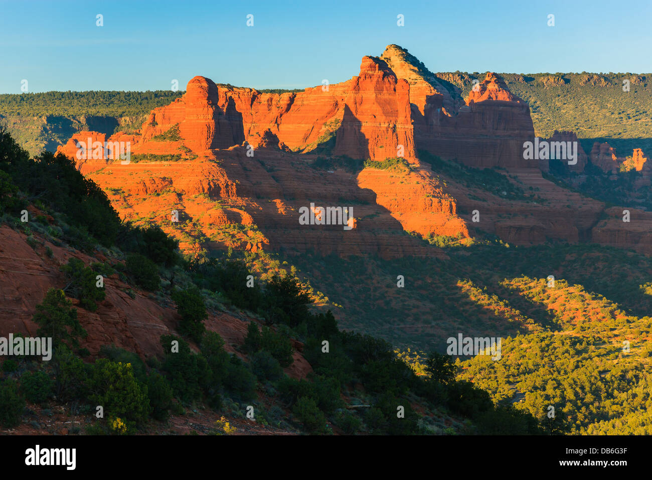 Rock formations just outside Sedona, Arizona - Stock Image