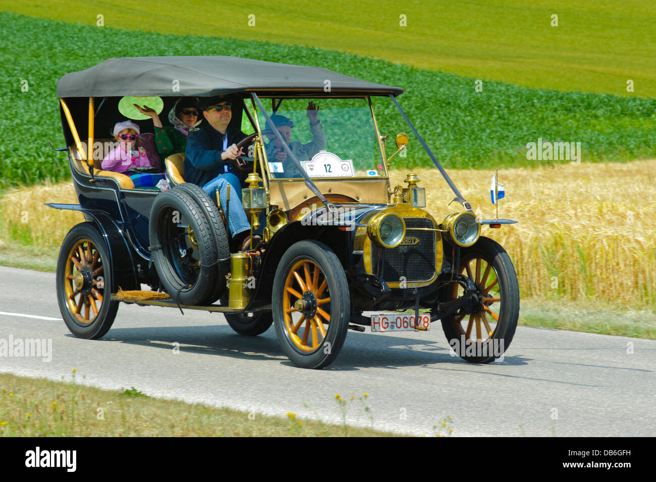 Duhanot CG Bolide, built at year 1907, photo taken on July 13, 2013 in Landsberg, Germany - Stock Image