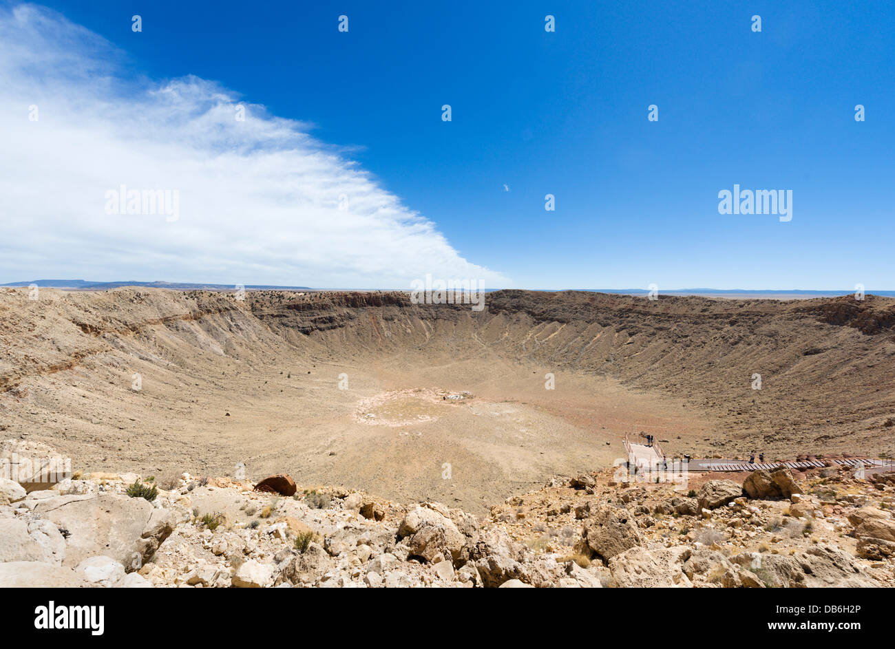 Meteor Crater (also known as Barringer Crater) near Winslow, Arizona, USA - Stock Image