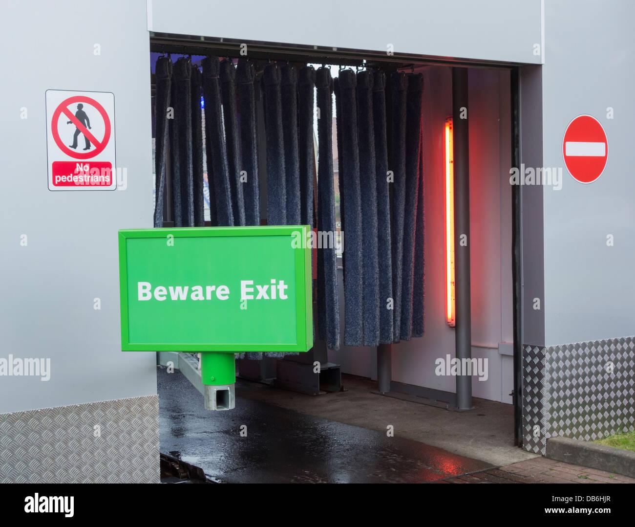 Car wash exit. UK - Stock Image