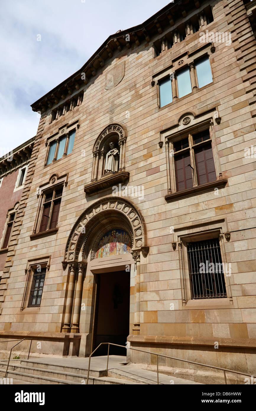 Theological faculty of catalonia ecclesiastical university Barcelona Catalonia Spain - Stock Image