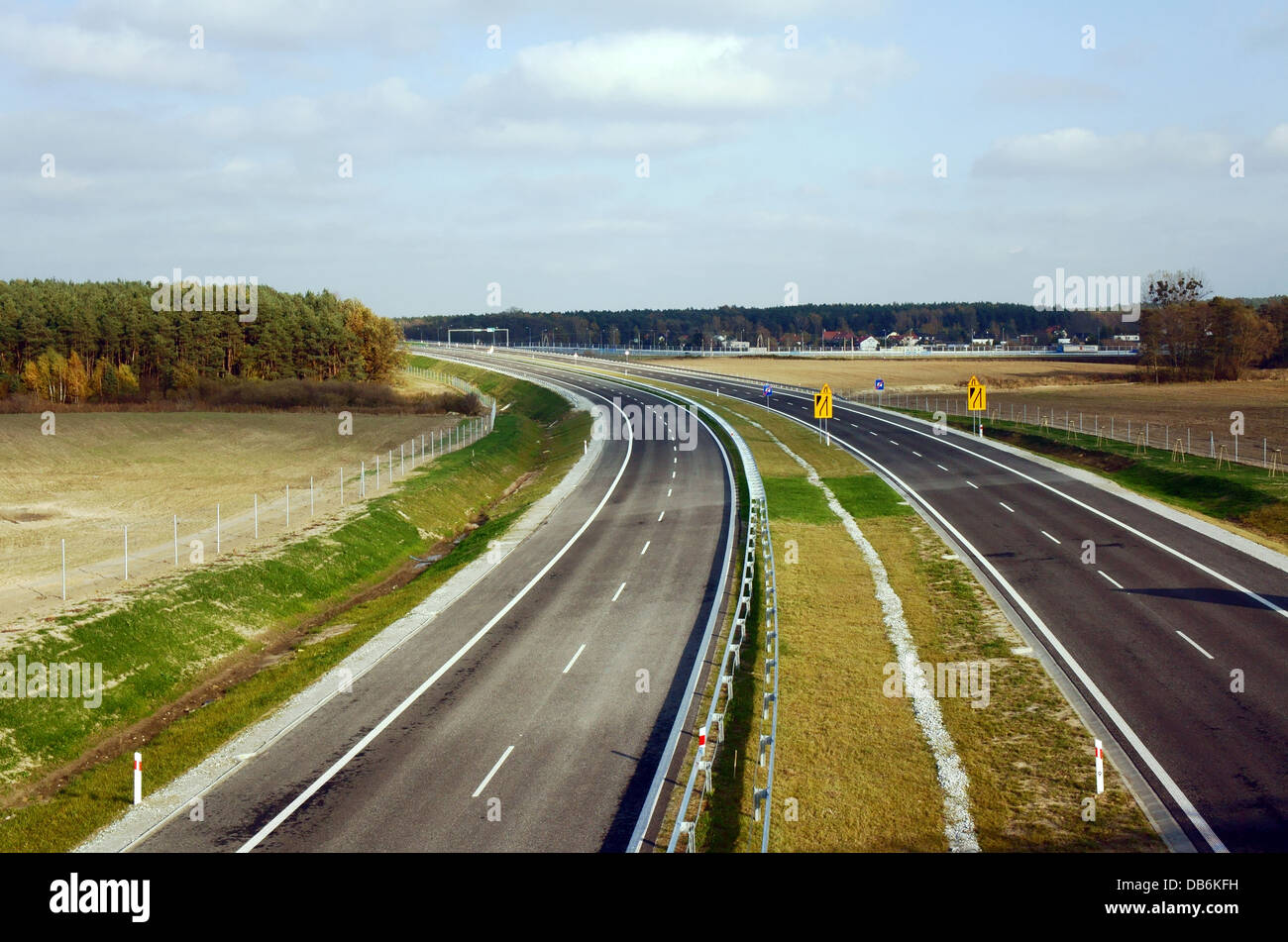 orbital road under construction in Poznan, Poland, october 2012 - Stock Image