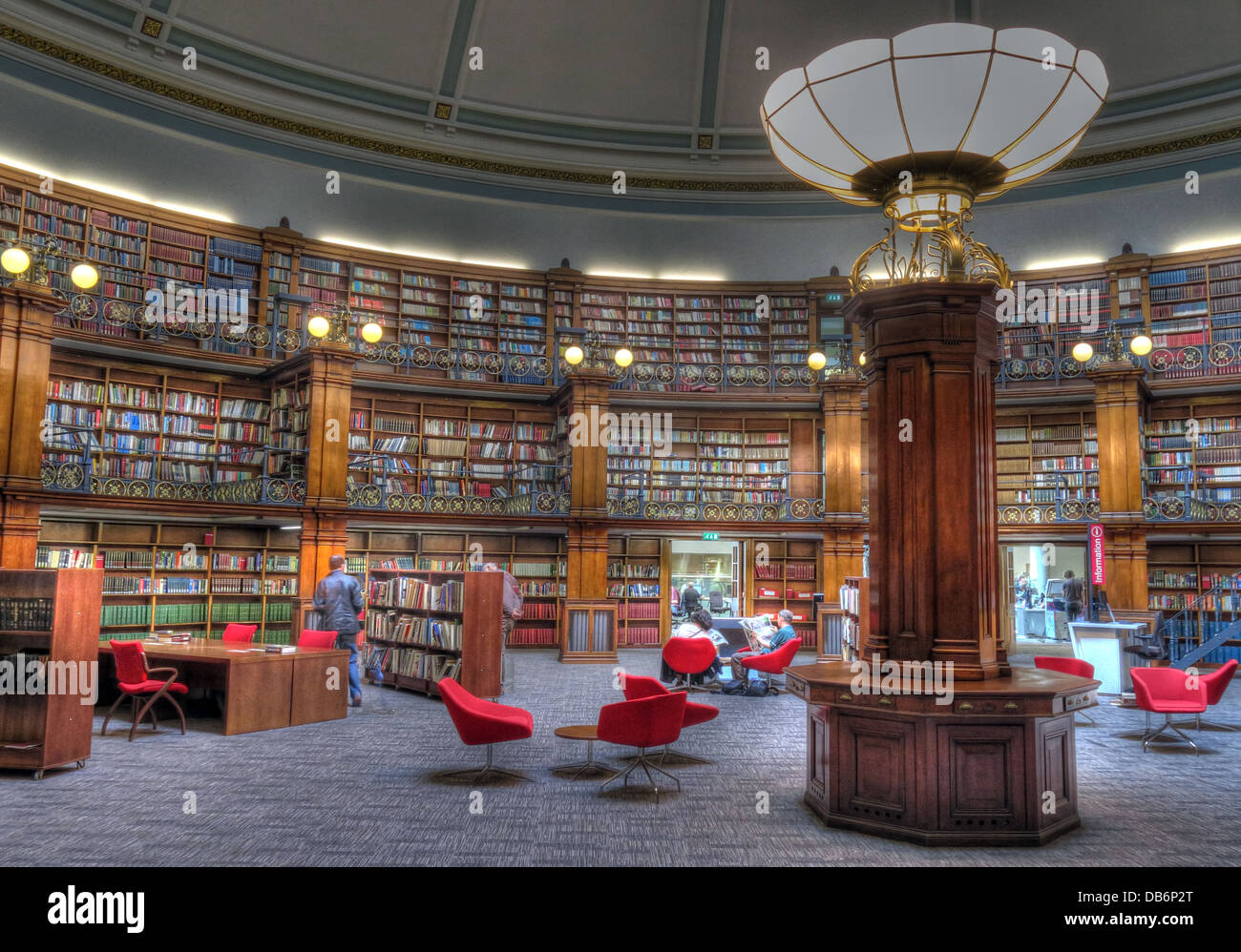 Liverpool Central Library, Picton reading room interior , Merseyside England UK - Stock Image