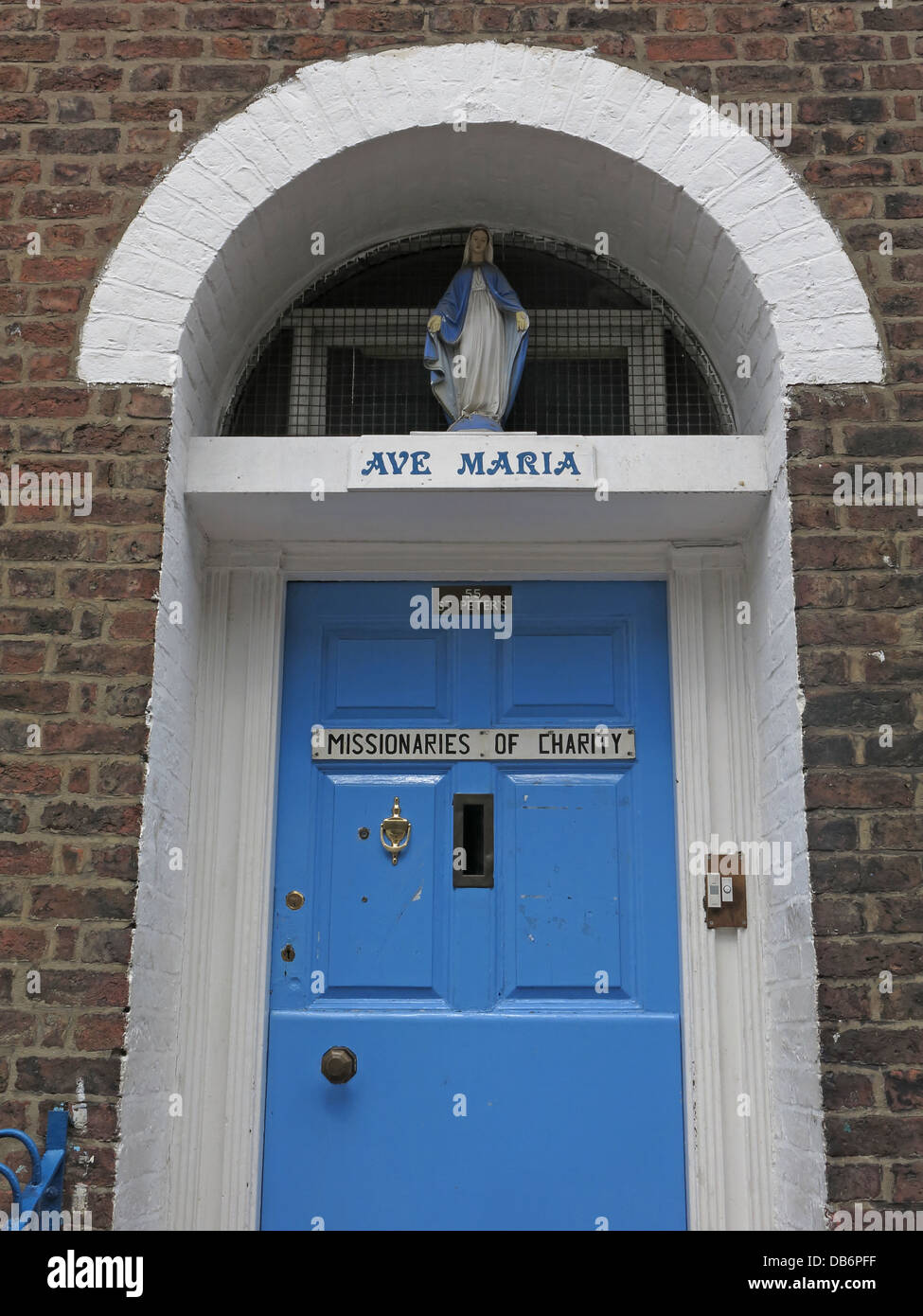 Ave Maria Missionaries of Charity Office Liverpool - Stock Image