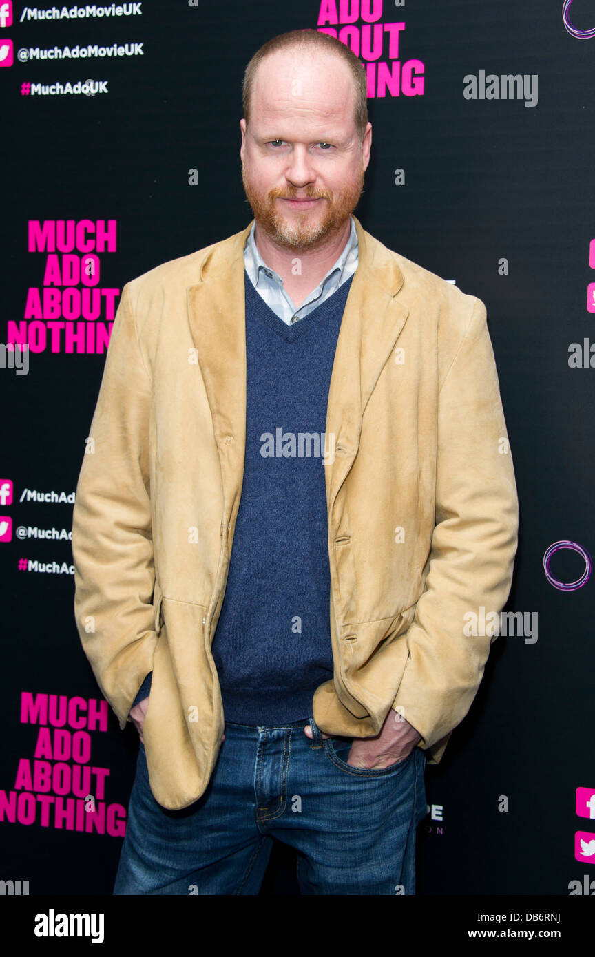 Joss Whedon arrives for the UK Premiere of 'Much Ado About Nothing', London, Tuesday, June. 11, 2013. - Stock Image