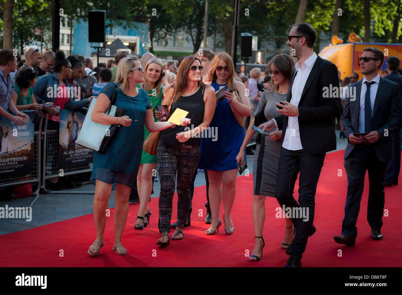 Leicester Square, London, UK. 24th July, 2013. Alan Partridge, aka Steve Coogan, Attends Westend Premier of his - Stock Image
