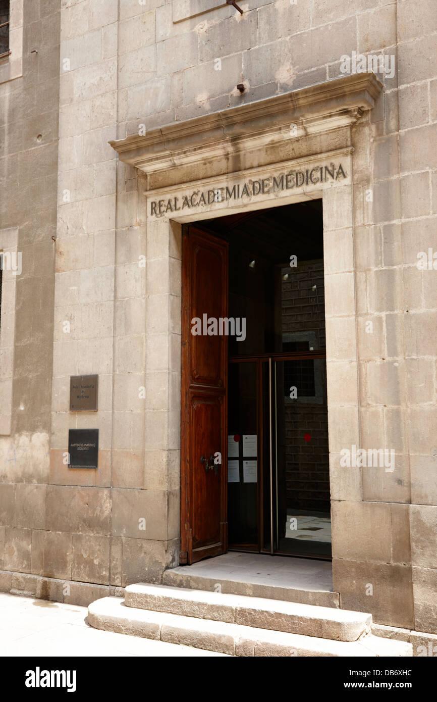 real academia de medicina Barcelona Catalonia Spain - Stock Image