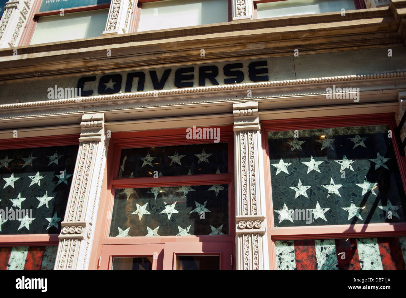 The Converse shoe store in New York City - Stock Image