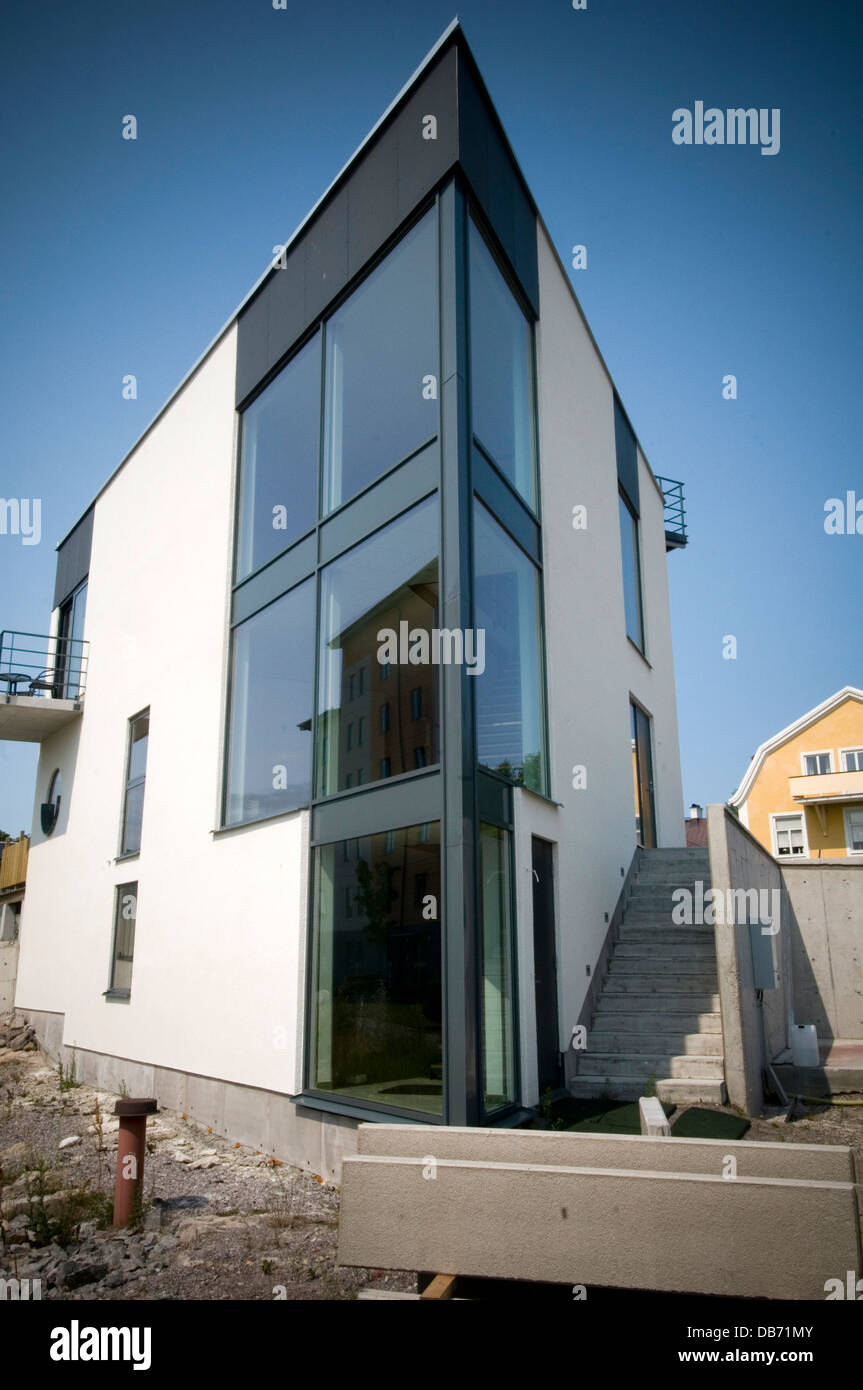 Modern Sweden Swedish House Houses Home Homes Contemporary Stock