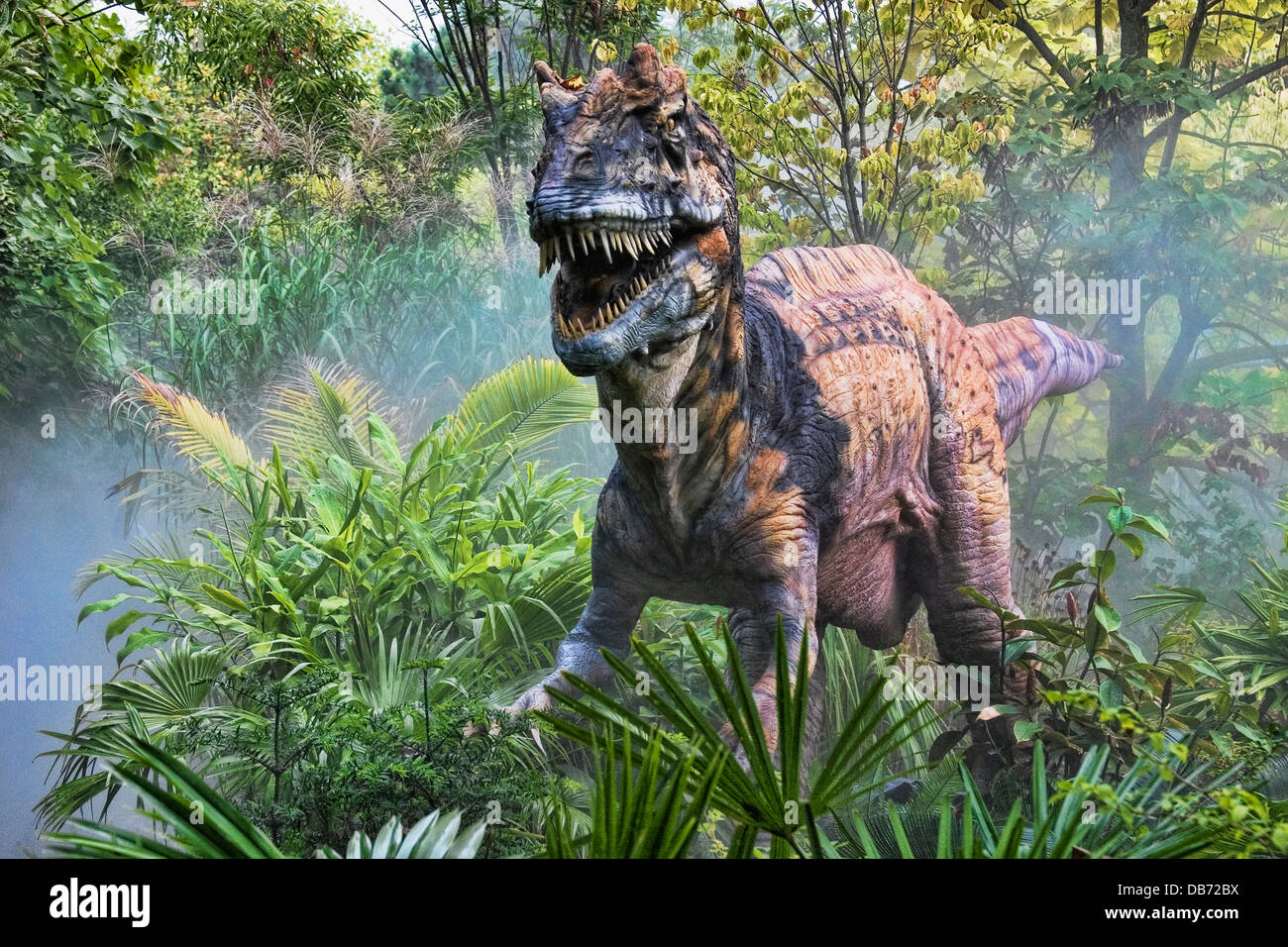 Metriacanthosaurus (which means 'moderately spined') dinosaur from the late Jurassic period. - Stock Image