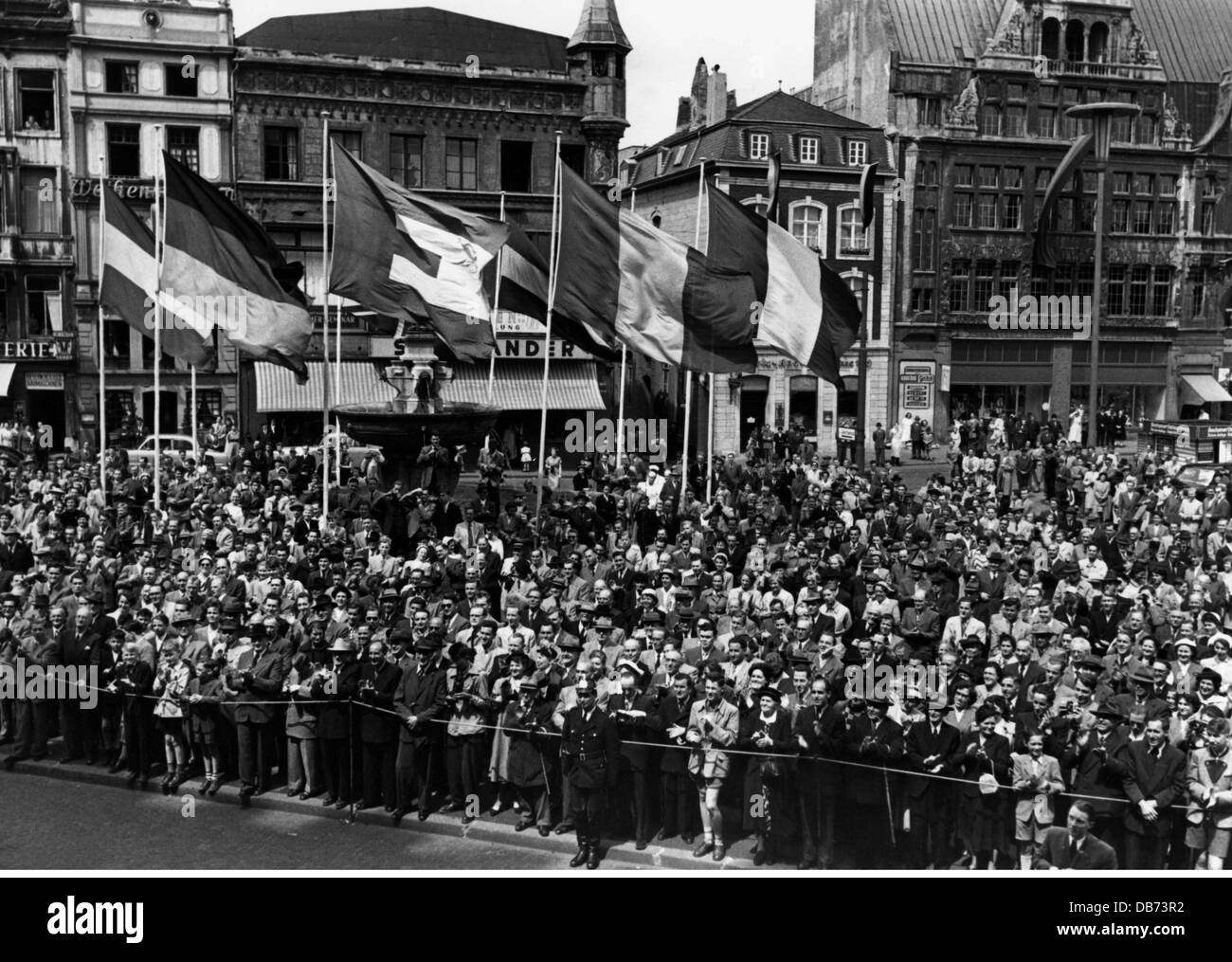 politics, Luxembourg, demonstrations, manifestation of the Union of European Federalists, May 1953, Additional-Rights - Stock Image