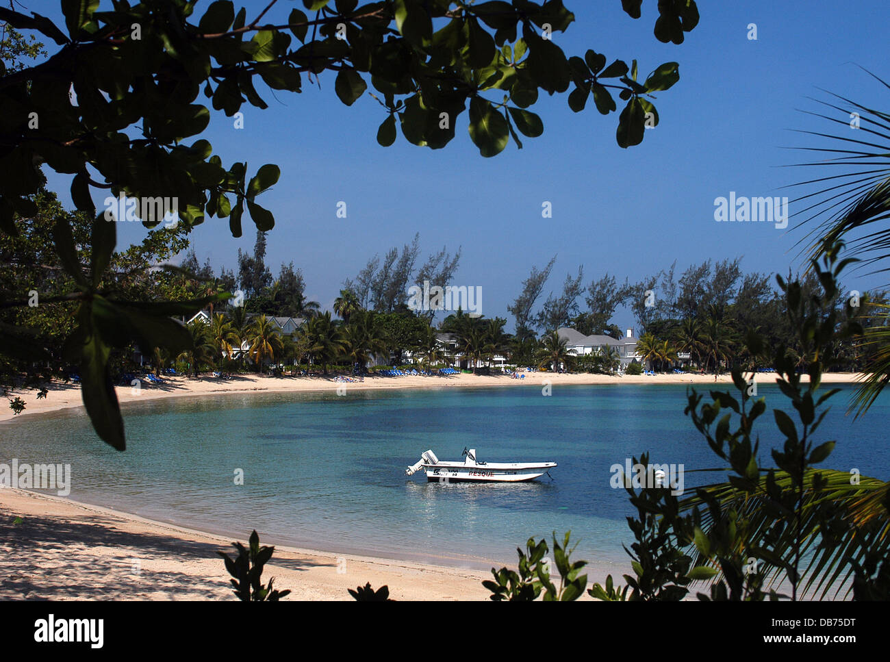 Beach Caribbean Hotel Half Moon Montego Bay Jamaica Stock Photo