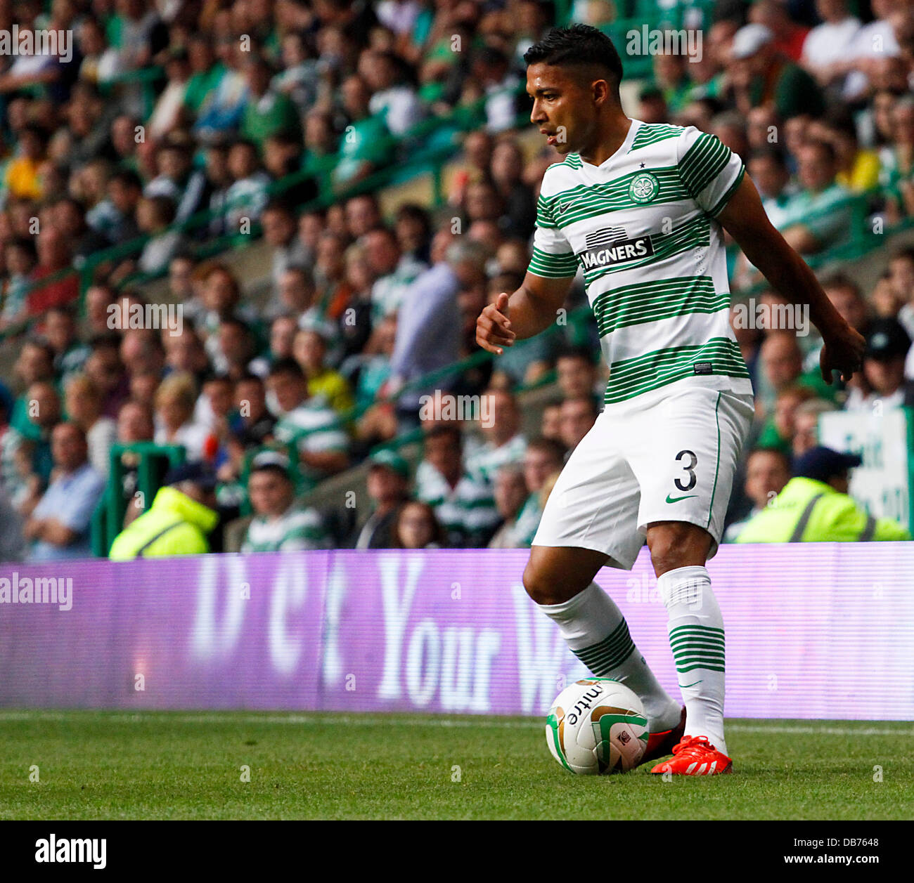 Celtic Park, Glasgow, Scotland. 23rd July, 2013. UEFA Champions League qualification, second leg. Celtic FC versus Stock Photo