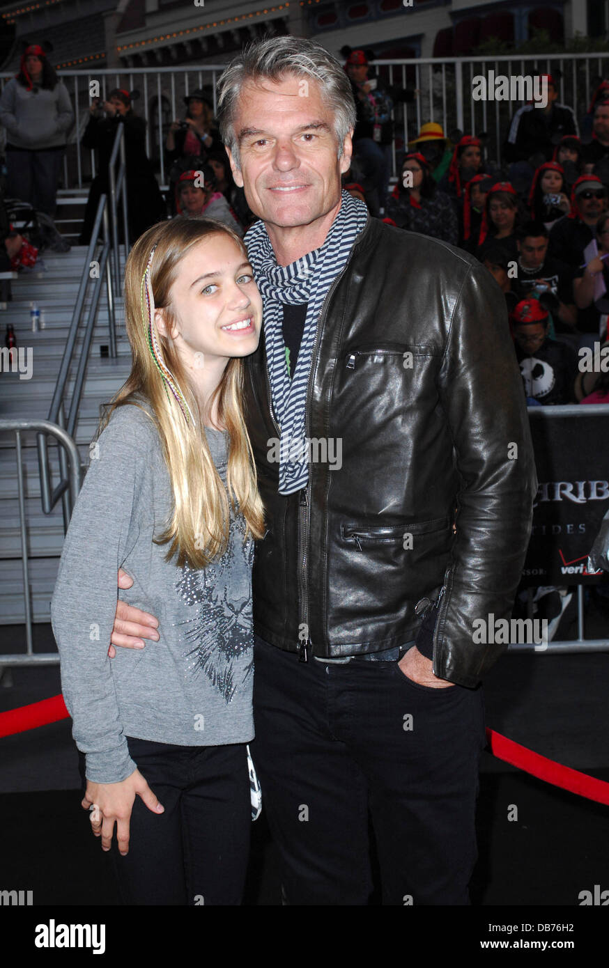 Harry Hamlin and his daughter 'Pirates Of The Caribbean: On