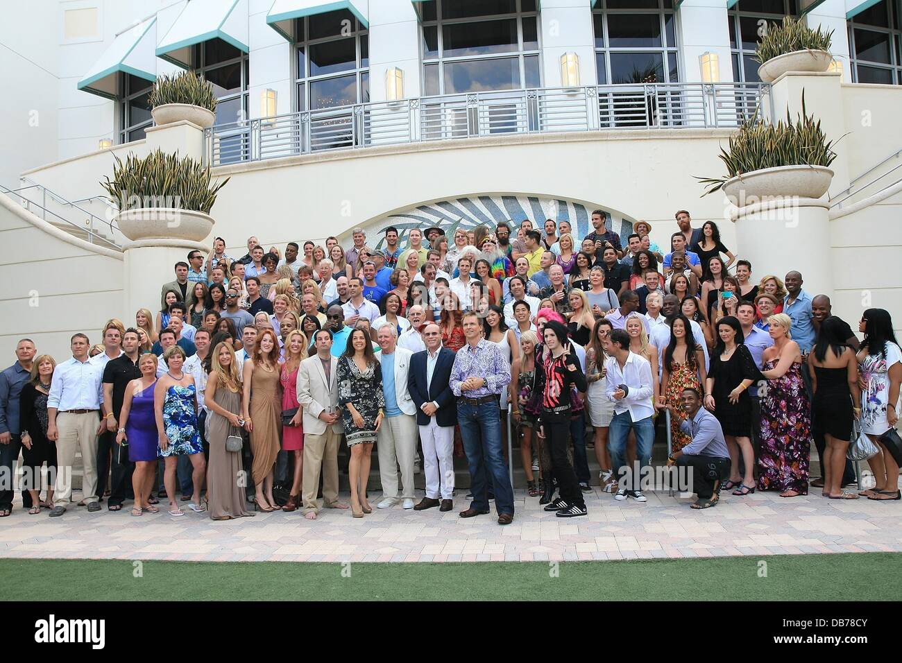 The cast of The Amazing Race arrive at The Amazing Race: 10 Year