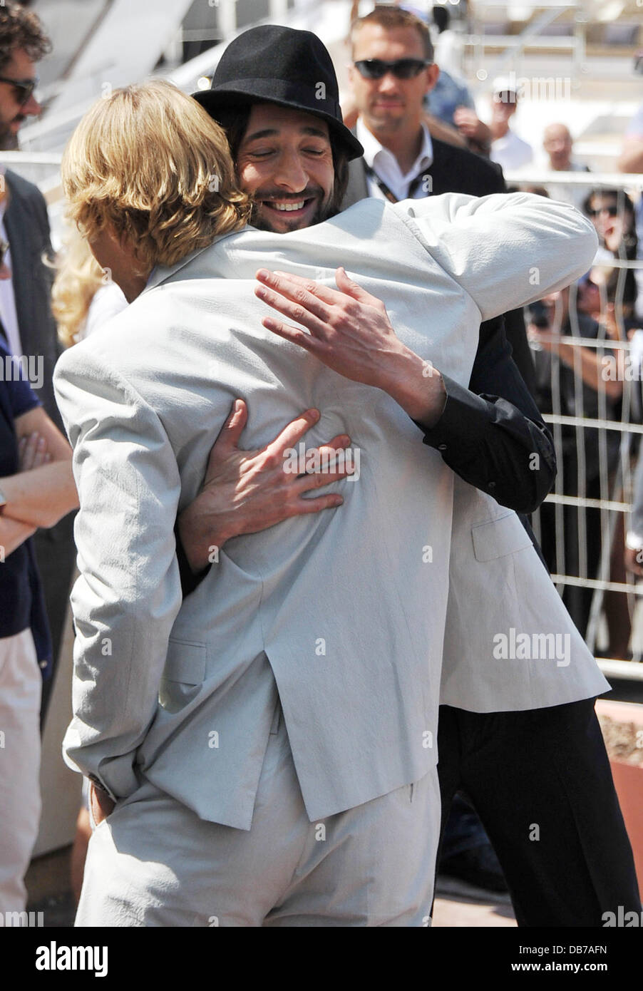 Adrien Brody and Owen Wilson  2011 Cannes International Film Festival - Day 1 - Midnight In Paris - Photocall - - Stock Image