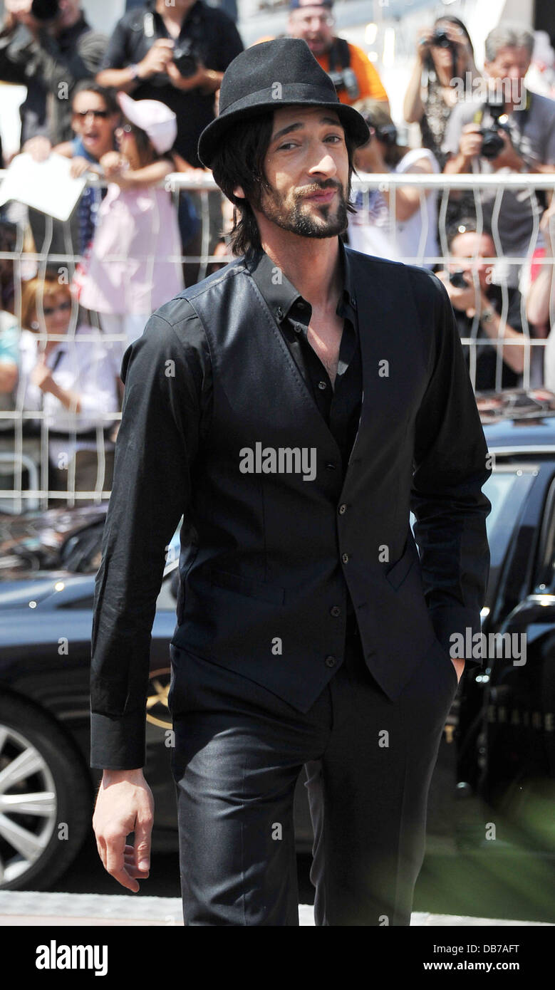 Adrien Brody  2011 Cannes International Film Festival - Day 1 - Midnight In Paris - Photocall - Outside Arrivals - Stock Image