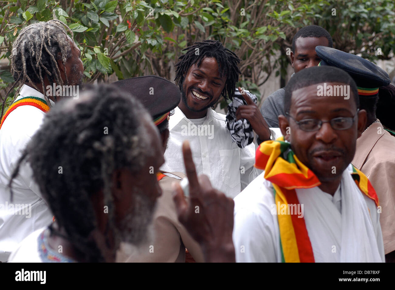 5ecd682d88e Rastafarian people in a ceremony at The Ethiopian Orthodox Church ...