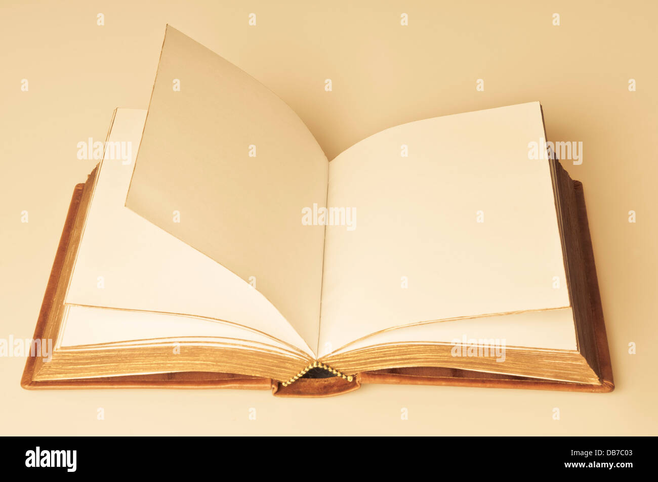 open book, blank pages - Stock Image