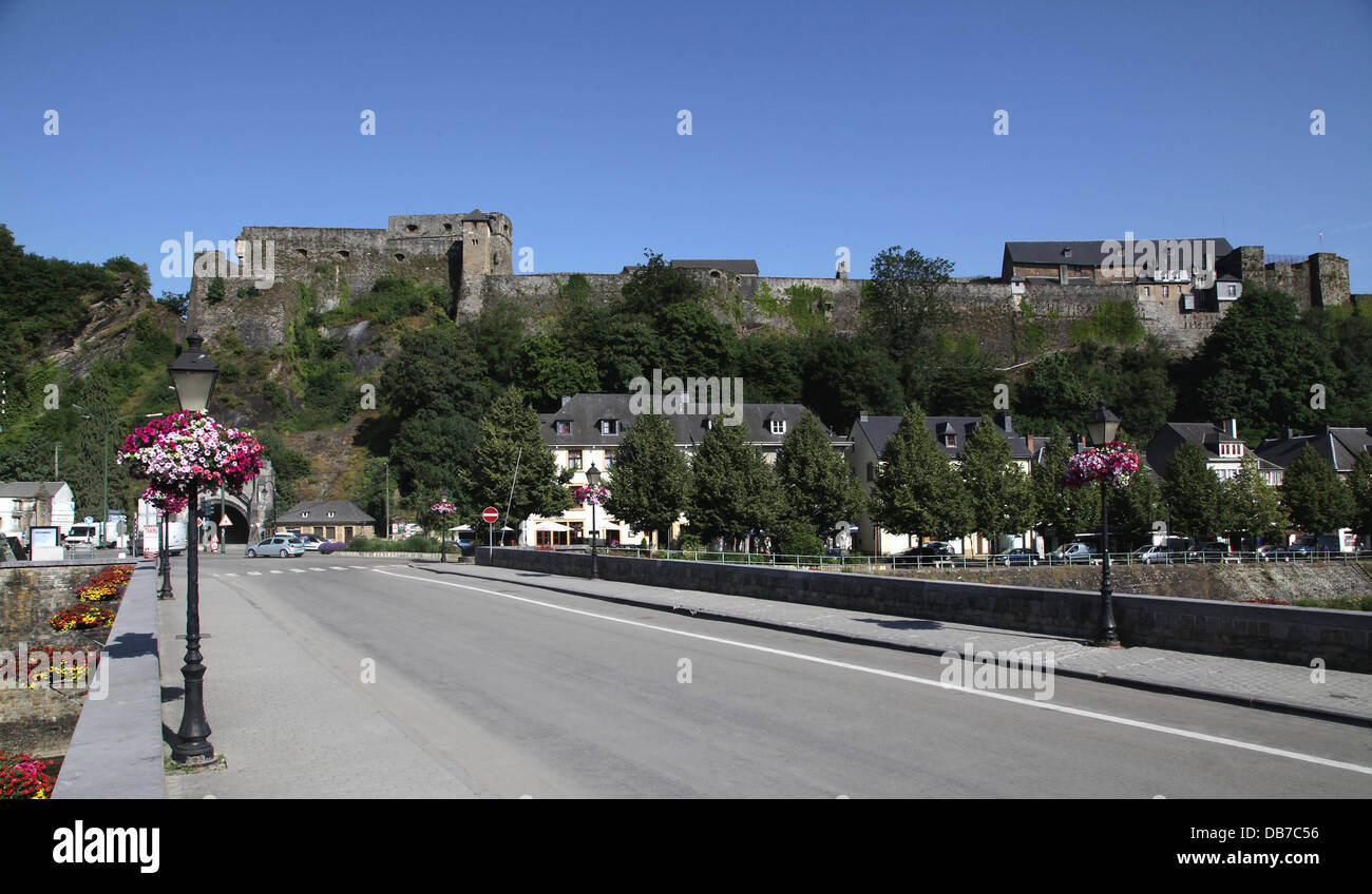Bouillon.a municipality in Belgium. It lies in the country's Walloon Region and Luxembourg Province.Bouillon - Stock Image