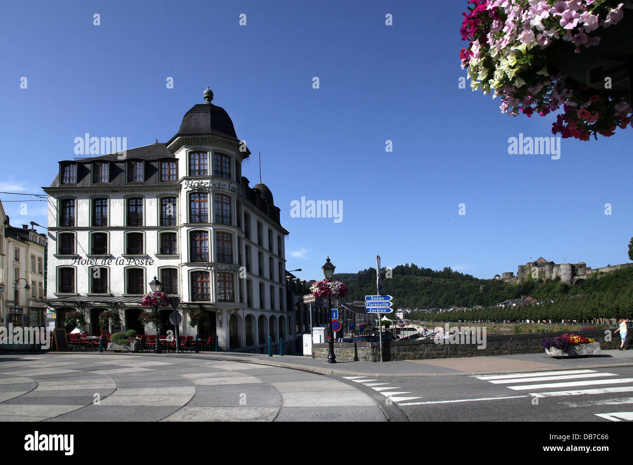 Bouillon.a municipality in Belgium. It lies in the country's Walloon Region and Luxembourg Province.Hotel de - Stock Image