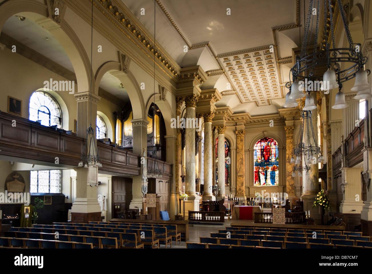 Uk england birmingham st philip s cathedral baroque interior stock photo 58555959 alamy for Interior exterior birmingham al