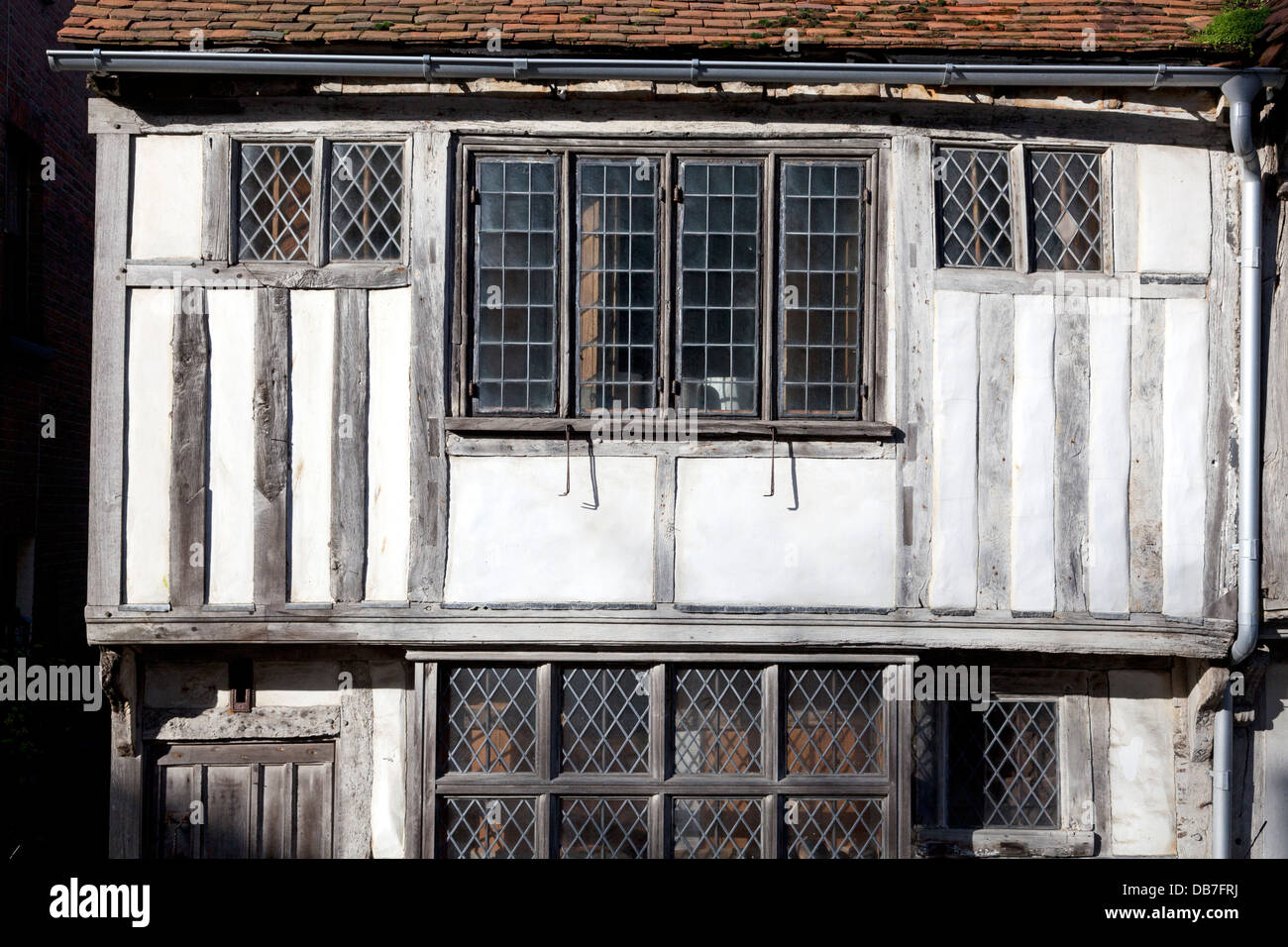 Medieval house frontage in Hastings Old Town, East Sussex - Stock Image