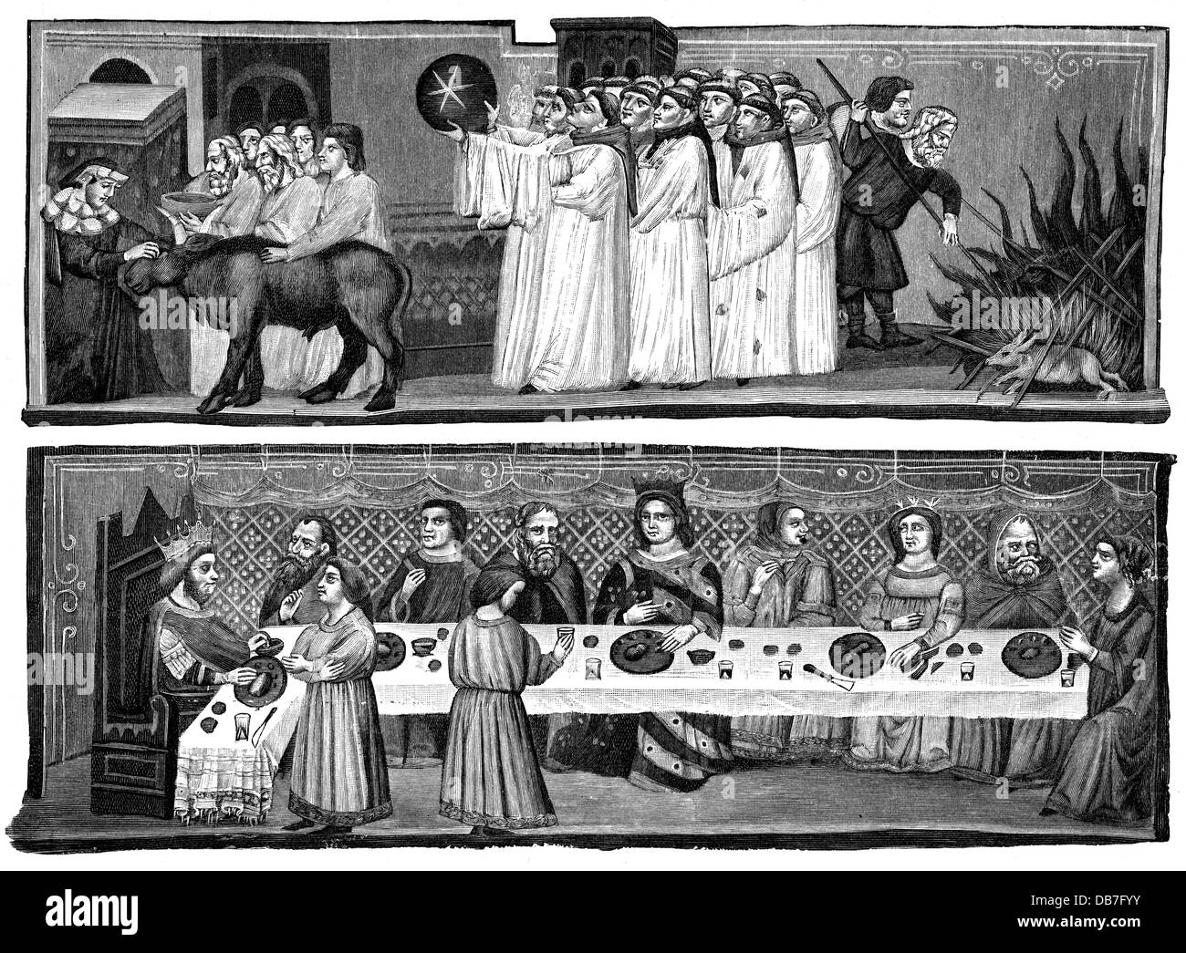 Caesar, Gaius Julius, 13.7.100 - 15.3.44 BC, Roman politician, dictator 49 and since 47, animal sacrifice and procession - Stock Image