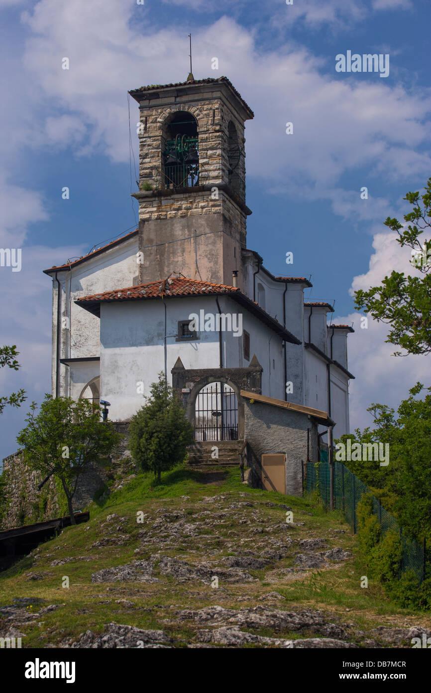 Santuario della Madonna della Ceriola on Monte Isola - Stock Image