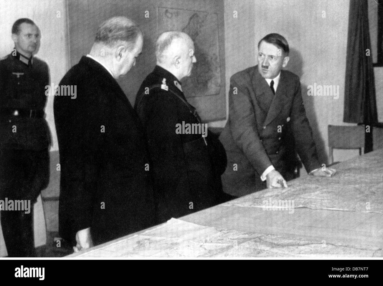 Hitler, Adolf, 20.4.1889 - 30.4.1945, German politician (NSDAP), Chancellor of the Reich 30.1.1933 - 30.4.1945, - Stock Image
