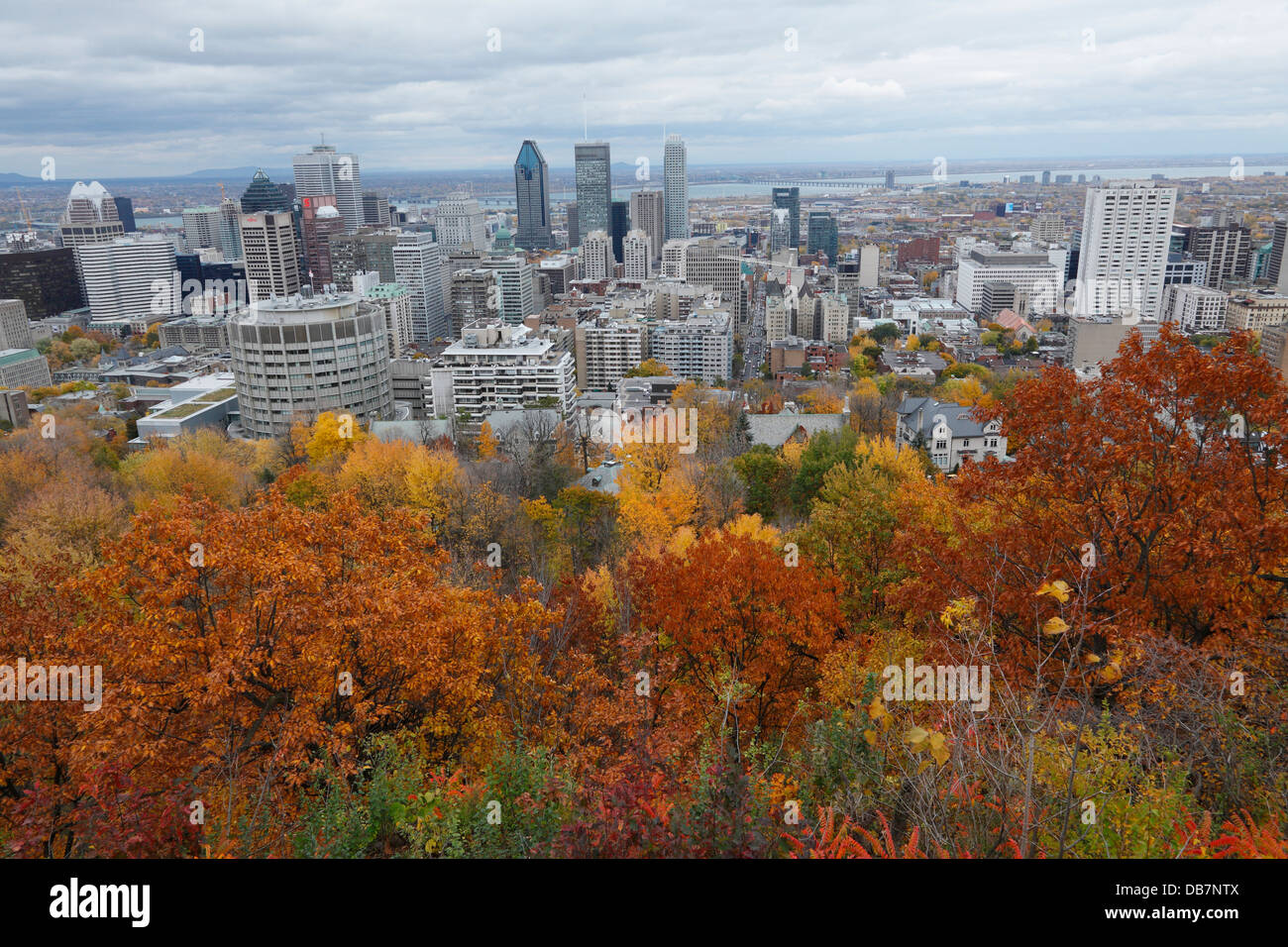View of the city - Stock Image