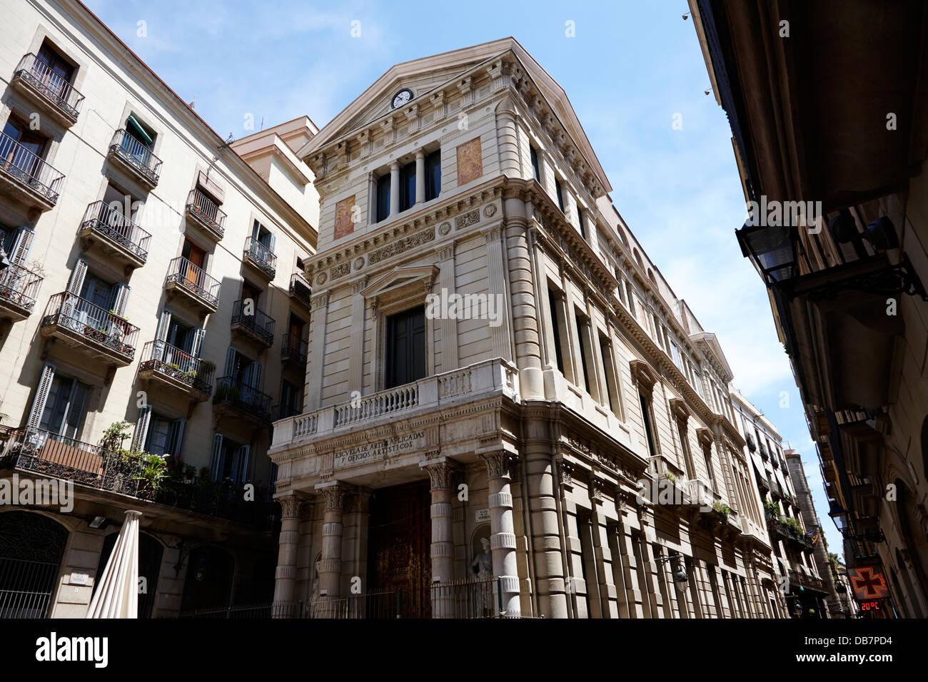 escuela de artes aplicadas y oficios artisticos Barcelona Catalonia Spain Stock Photo