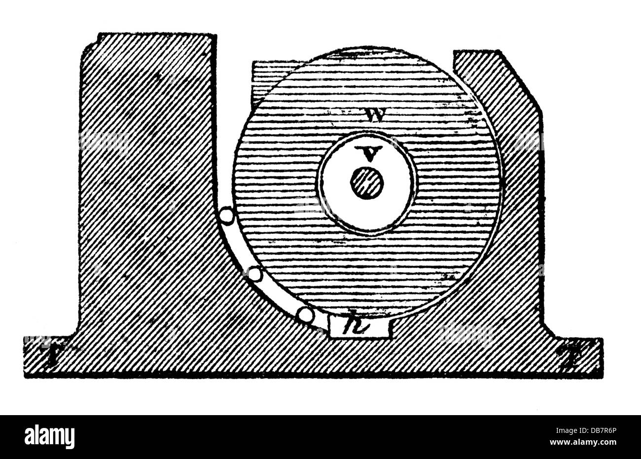 money / finances, mintage, compression of the coin plates, from: book of inventions, trades and industries, Otto - Stock Image