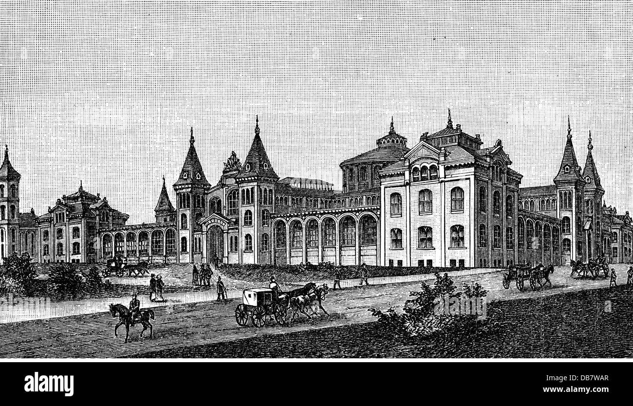 geography / travel, USA, Washington D.C., museums, Smithsonian Institution, exterior view, wood engraving, late - Stock Image