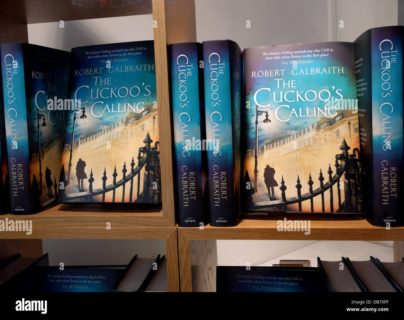 J K Rowling revealed as author of The Cuckoo's Calling by Robert Galbraith, London - Stock Image