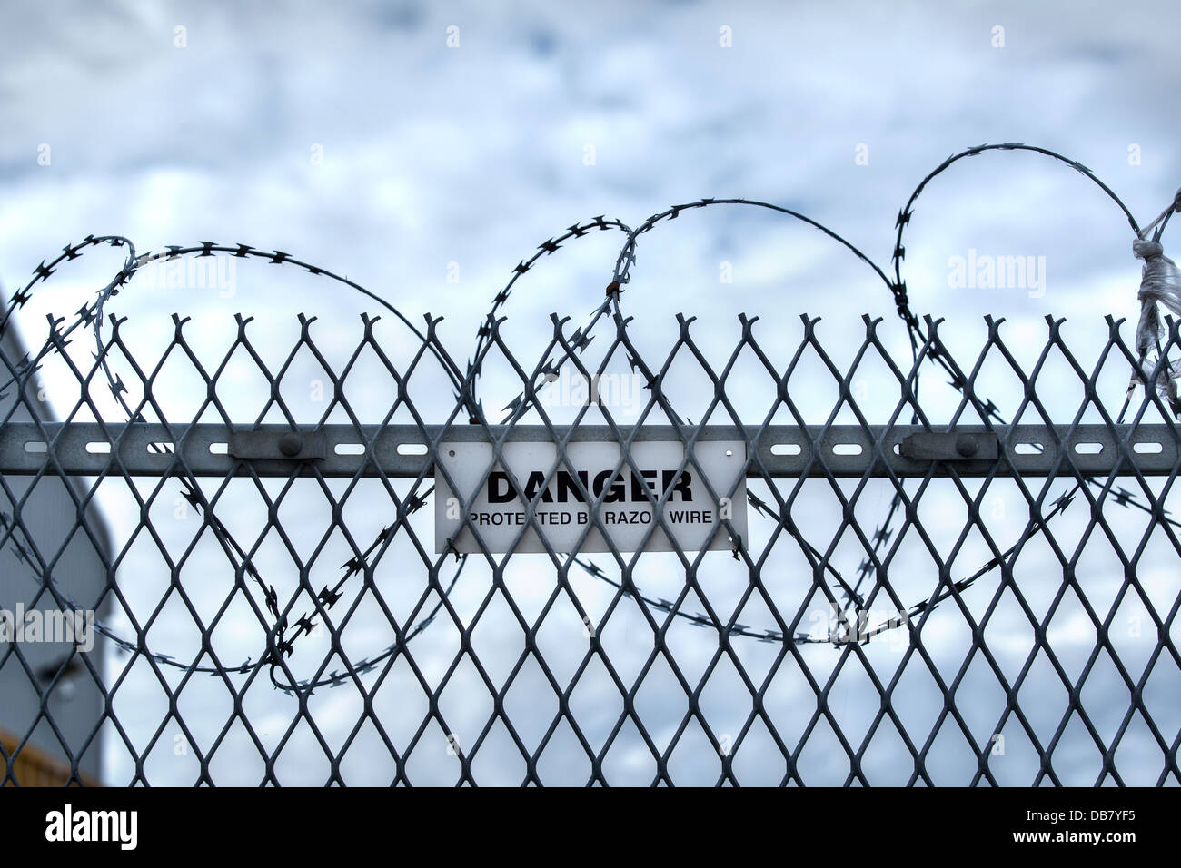 Security Fence Cut Out Stock Photos & Security Fence Cut Out Stock ...