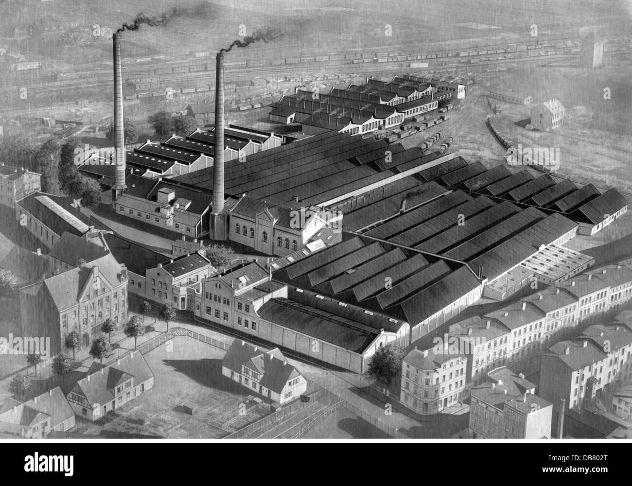 geography / travel, Germany, Hamburg - Harburg, buildings, jute mill of the Vereinigte Jute-Spinnereien und Webereien Stock Photo