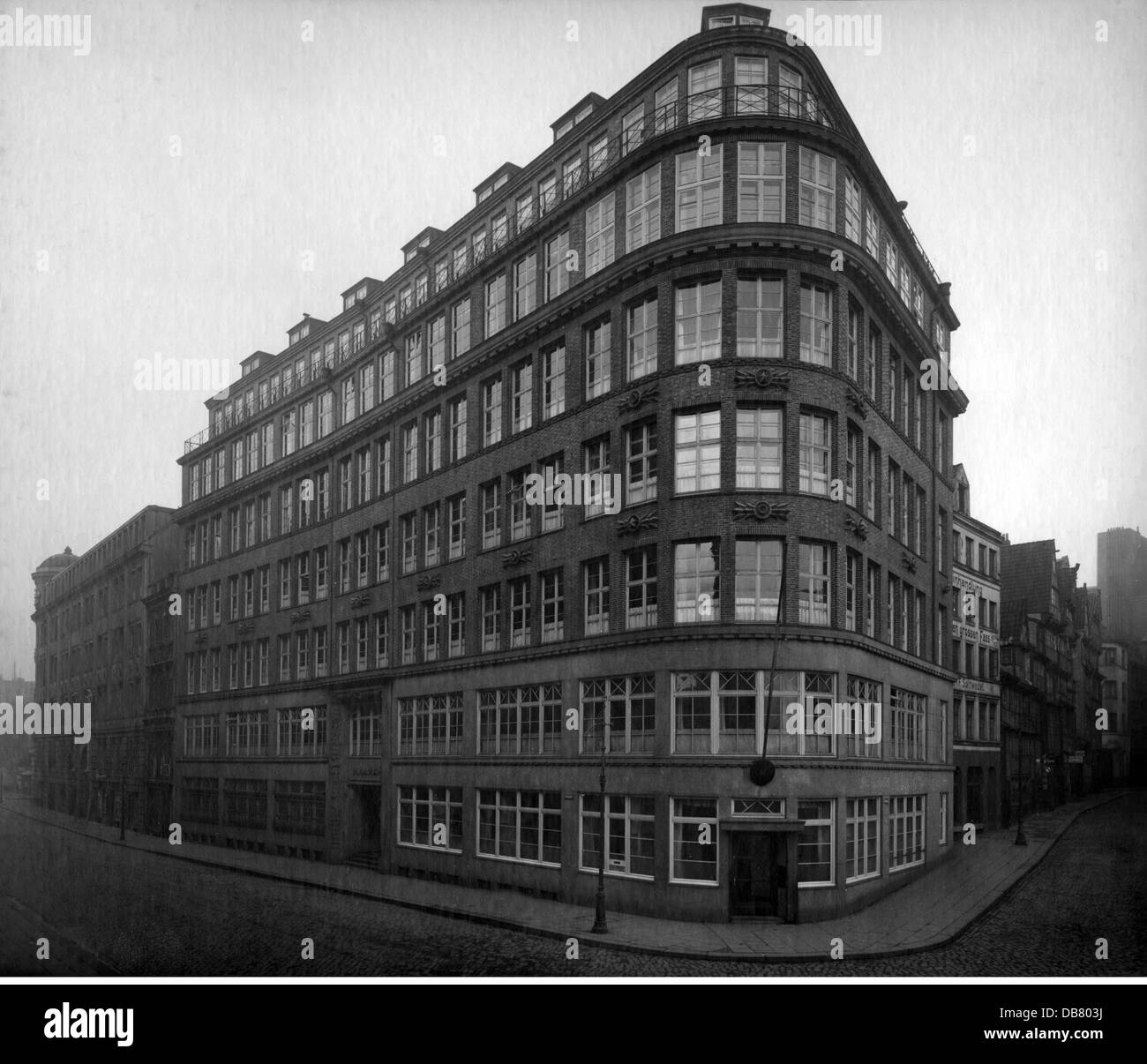geography / travel, Germany, Hamburg, buildings, office building 'Miramar', built by Max Bach, 1921 - 1922, - Stock Image